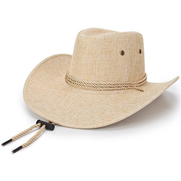 Män Unik Linné Cowboyhatt