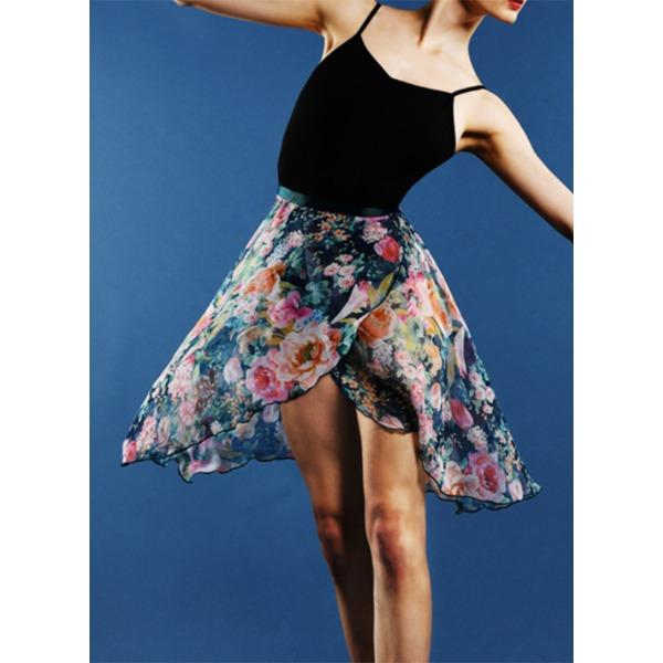 Mulheres Roupa de Dança Tecido de seda Balé Saias