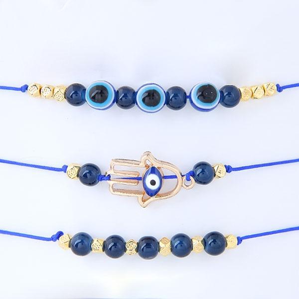 Unique Alliage Corde tressée Femmes Bracelets de mode (Lot de 3)