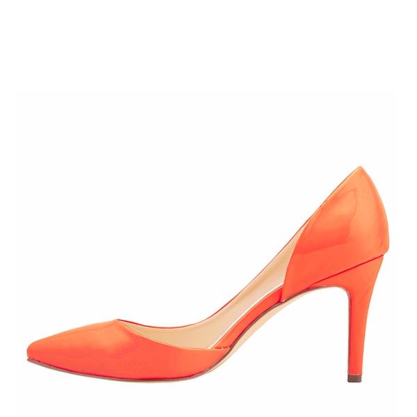 Naisten Kiiltonahka Piikkikorko Avokkaat Suljettu toe kengät
