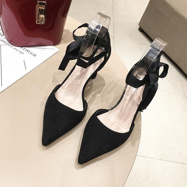 De mujer Ante Tacón ancho Salón Cerrados con Cordones zapatos