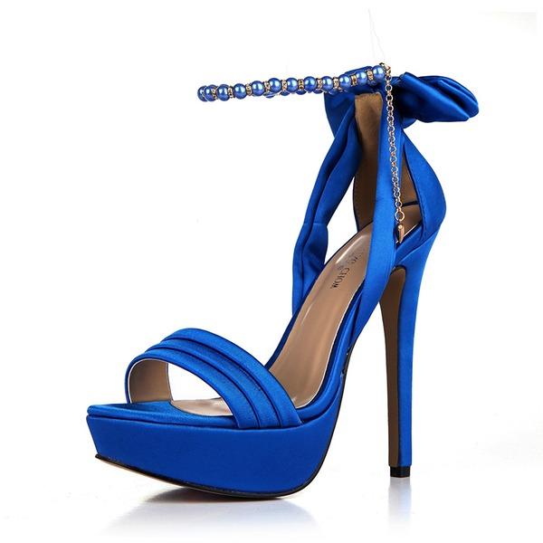 Donna Plastiche Tacco a spillo Sandalo Stiletto Punta aperta con Bowknot scarpe