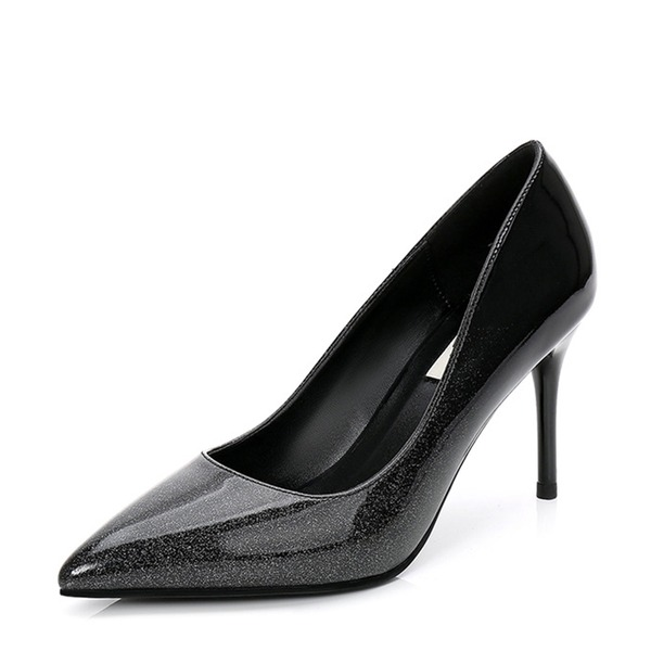 Vrouwen Patent Leather Stiletto Heel Pumps Closed Toe met Anderen schoenen