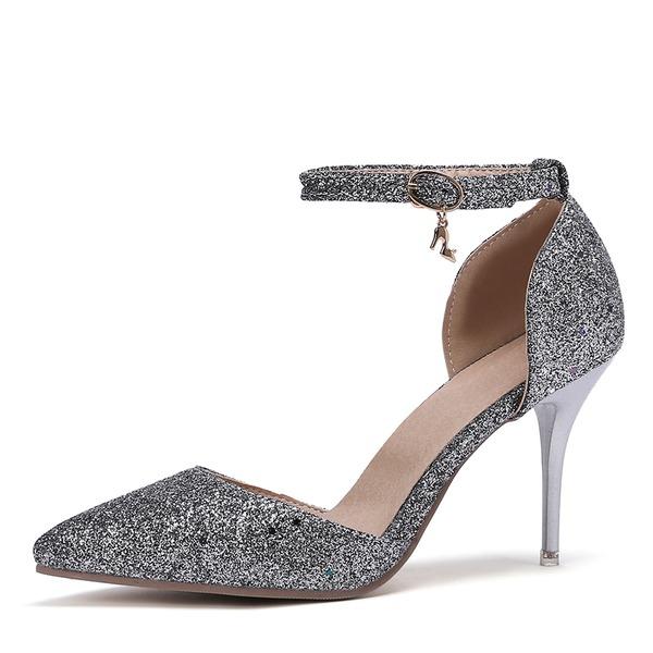 Kvinnor Lackskinn Stilettklack Pumps med Andra skor