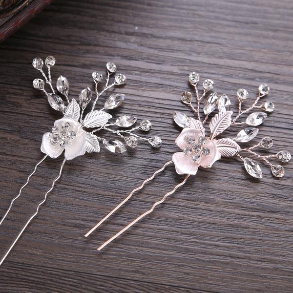 Glamourös Legierung Haarnadeln mit Venezianischen Perle