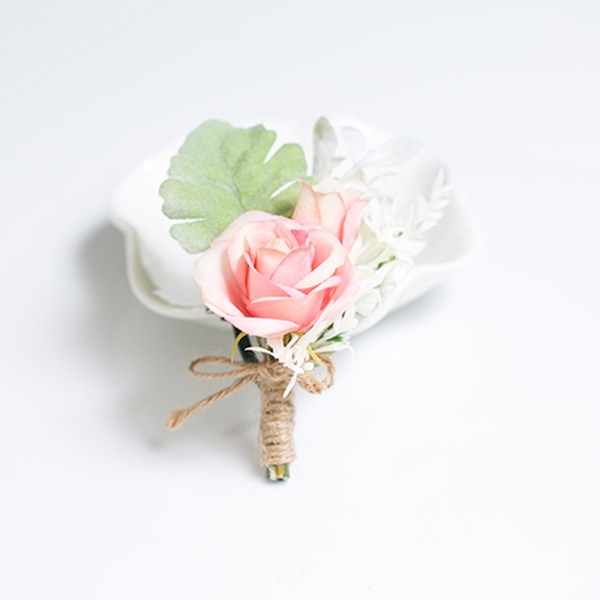 Charming Free-Form Satin/Fabric Boutonniere (Sold in a single piece) -