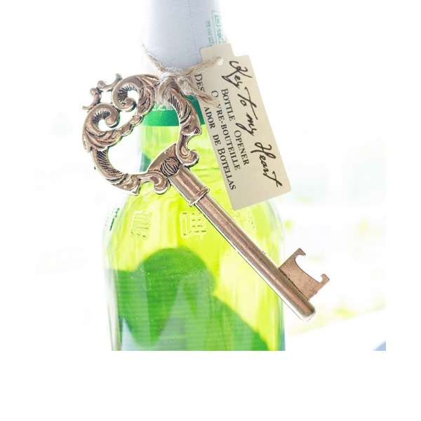 Antique Gold Key to My Heart Bottle Opener (Sold in a single piece)