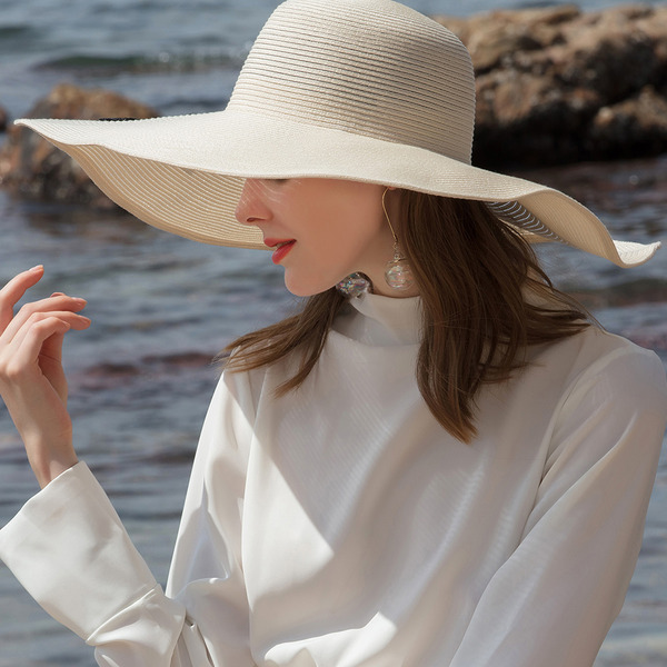 Ladies' Eye-catching/Nice Papyrus Floppy Hats/Straw Hats