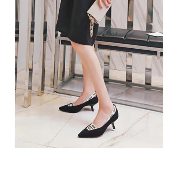 Donna Panno Tacco a spillo Stiletto Punta chiusa con Fascia di gomma scarpe