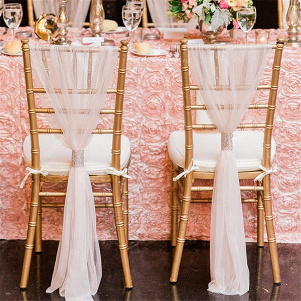 Yarn Chair Ribbon Sash Unique Décor (set of 10)