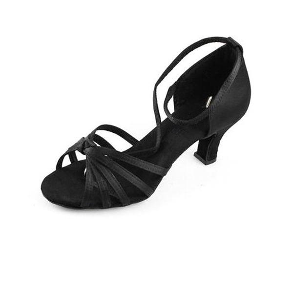 Dámské Satén Na podpatku Sandály Latinské Taneční boty