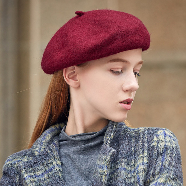 Ladies' Beautiful/Glamourous/Charming Wool Beret Hats