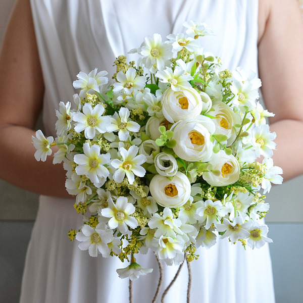 Simple And Elegant Free-Form Silk Flower Bridal Bouquets/Bridesmaid Bouquets - Bridal Bouquets