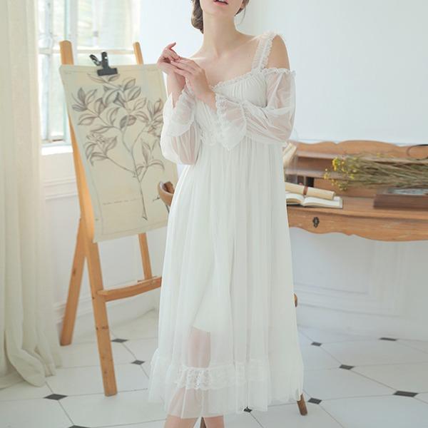 Algodão Nupcial/Feminino roupa de dormir