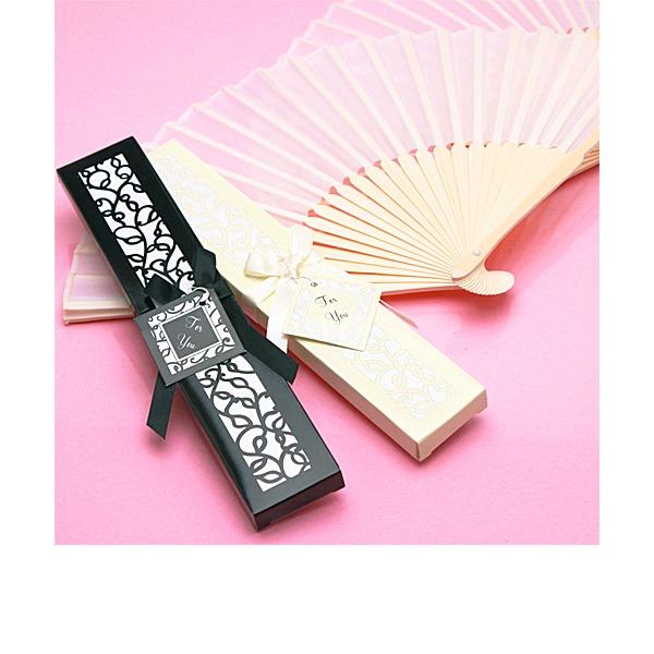 stile vintage/Elegante Stile vintage Bambù Ventilatore della mano con Nastri (Venduto in un singolo)