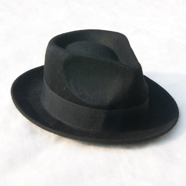 Män Glamorösa/Elegant/Enkel Filt Fedora Hat