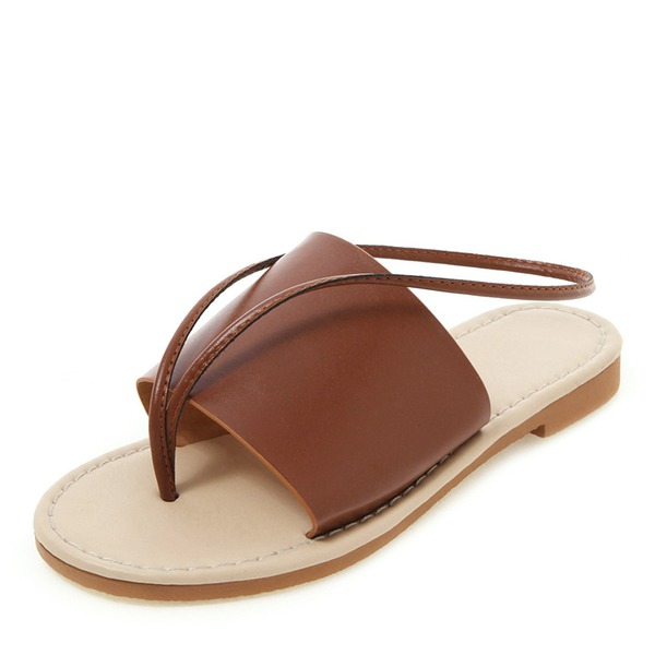 Donna Similpelle Senza tacco Sandalo Ballerine Punta aperta Con cinturino scarpe