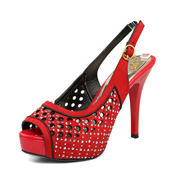 Kvinnor PU Stilettklack Pumps Plattform med Spänne skor