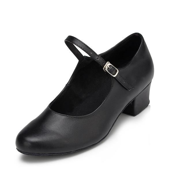 Dámské Koženka Na podpatku Sandály Lodičky Latinské Taneční Trénink znakové boty Taneční boty
