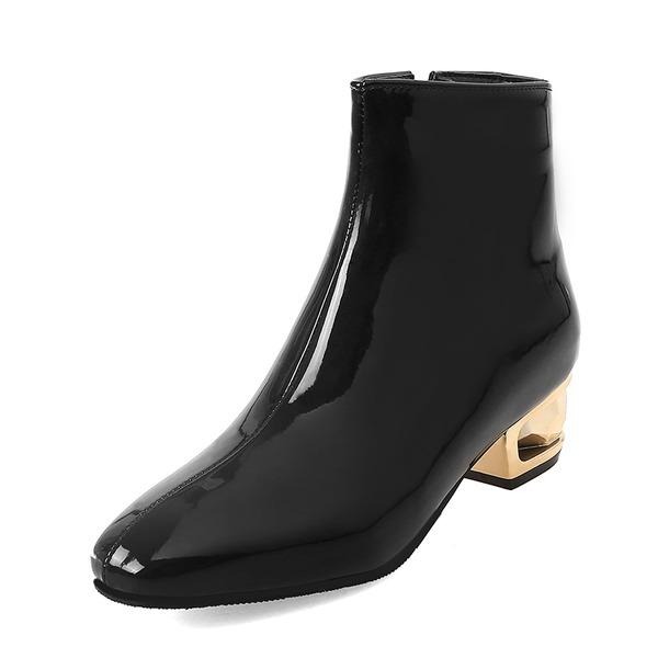 Mulheres Couro Salto cone Botas sapatos
