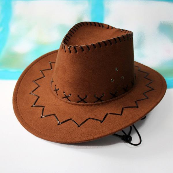 Erkek Klasik Kadife Kovboy şapkası