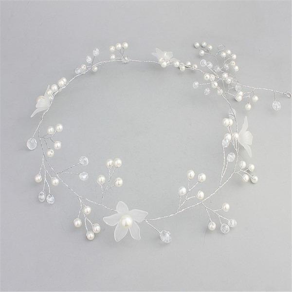 Schöne Kristall/Faux-Perlen/Frosted Blume Stirnbänder (In Einem Stück Verkauft)