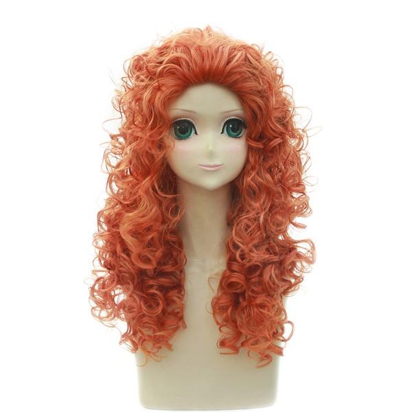 Kıvırcık Sentetik Kapaksız peruk Cosplay / Trendy Peruklar 250 g