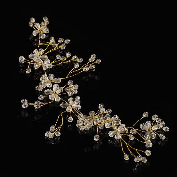 Strass/Legering/Fauxen Pärla Pannband med Strass/Venetianska Pärla (Säljs i ett enda stycke)