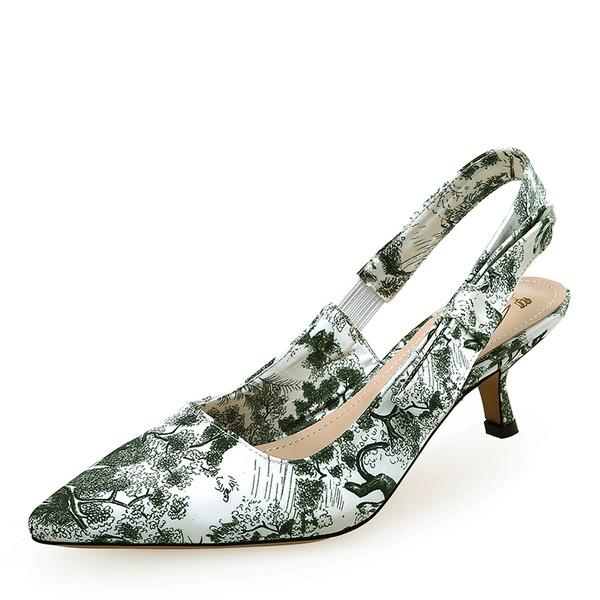 шелка как атласное Низкий каблук (рюмка) На каблуках с Атласный бант обувь