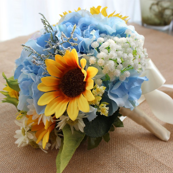 Elegant Round Emulational Berries Bridal Bouquets (Sold in a single piece) - Bridal Bouquets