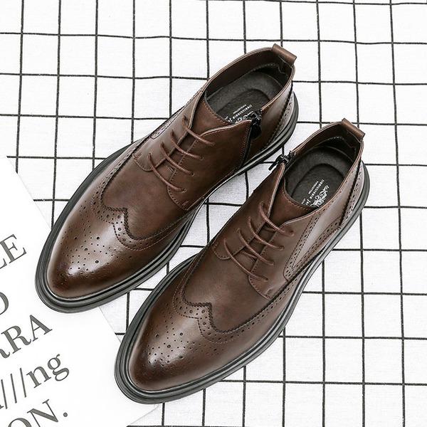 Pánské Koženka Chelsea Casual Pánská obuv Boots