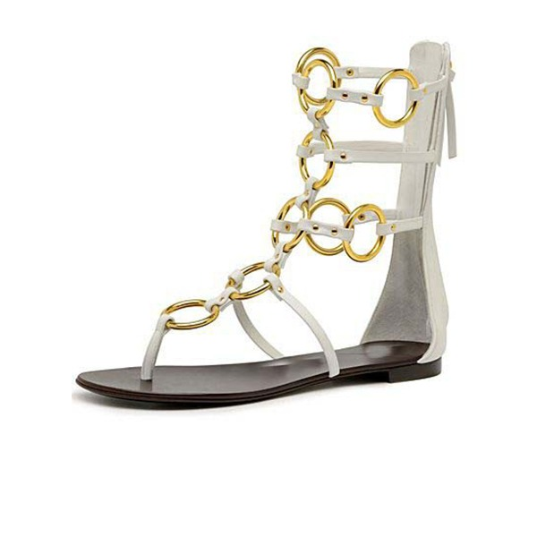 Women's PVC Flat Heel Sandals Flats Peep Toe shoes