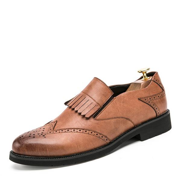 Mannen Microfiber Leer Brogue Tassel Loafer Casual Loafers voor heren