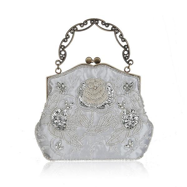 Elegant Satin Clutches/Wristlets/Totes/Bridal Purse/Fashion Handbags/Makeup Bags/Luxury Clutches