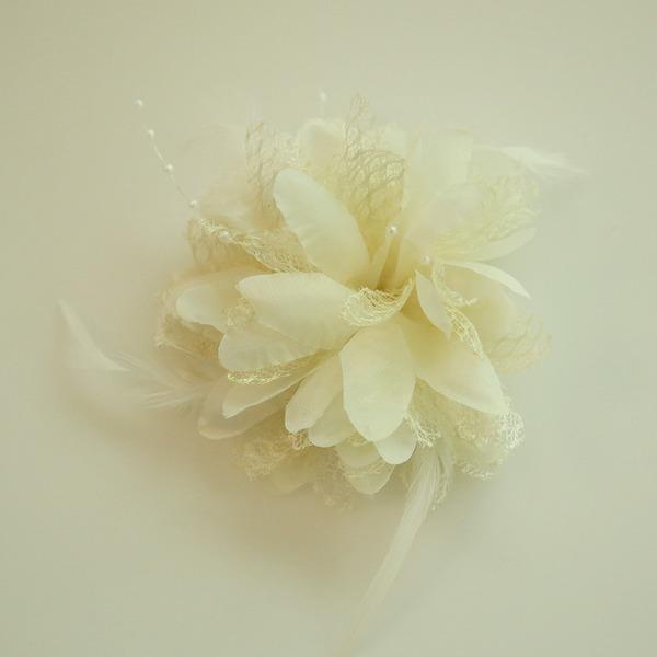 Damer Vackra Och Siden blomma Panna smycken