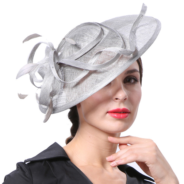 Damene ' Glamorøse/Elegant/Pen Cambric med Fjær Kentucky Derby Hatter/Tea Party Hats