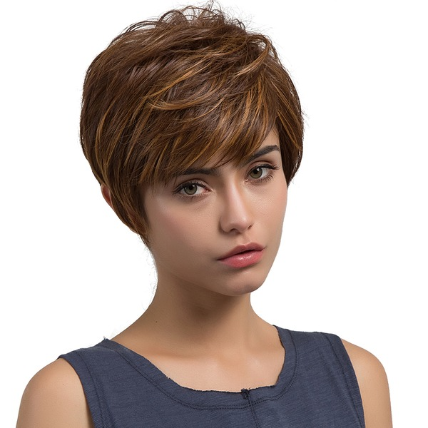 Straight Pixie Bob Synthetic Wigs (Sold in a single piece)