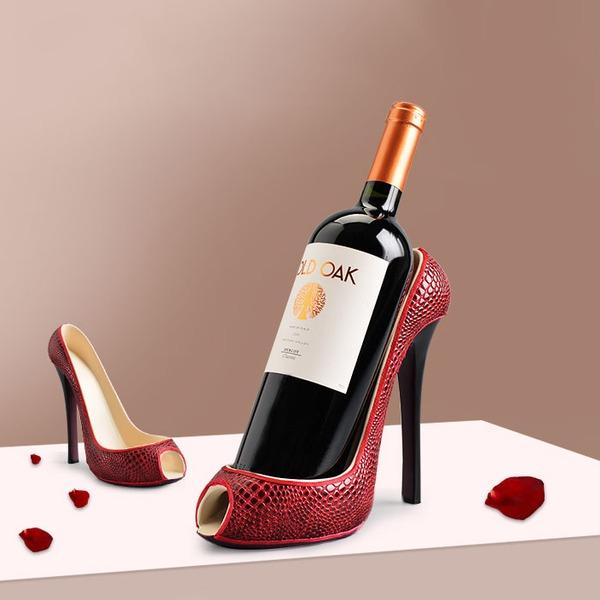 Creative High Heels Shape Resin Bottle Holder / Wine Rack