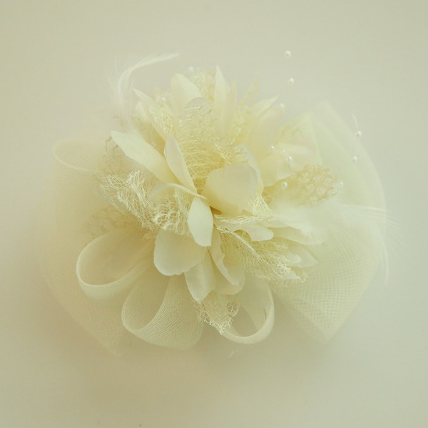 Damer Vackra Och Netto garn/Siden blomma Panna smycken/Hatt