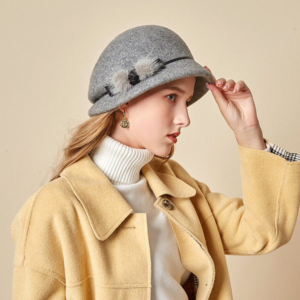 Dames Beau/Simple/Jolie Coton Chapeau melon / Chapeau cloche