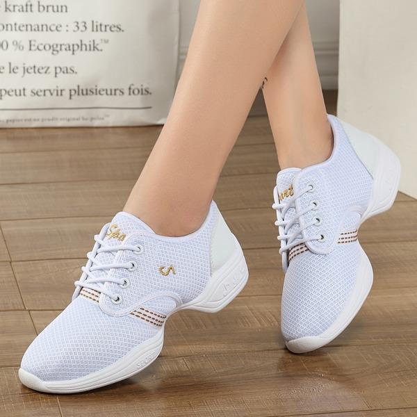 Frauen Stoff Tanzschuhe Moderner Style Jazz Sneakers Tanzschuhe