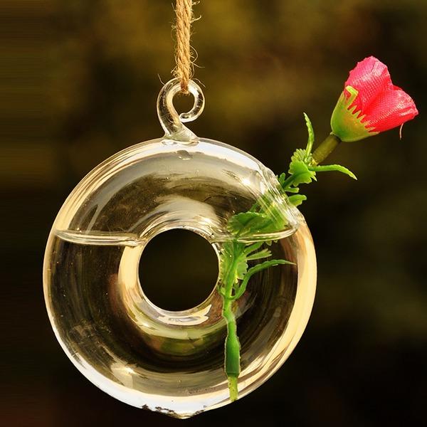 Hanging Round Glass Vase