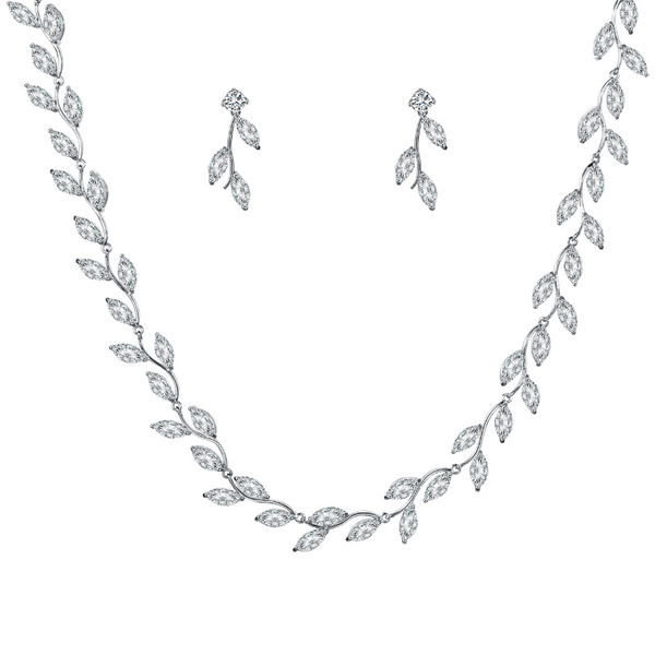 Ladies' Fairy Copper/Cubic Zirconia Cubic Zirconia Jewelry Sets For Bride