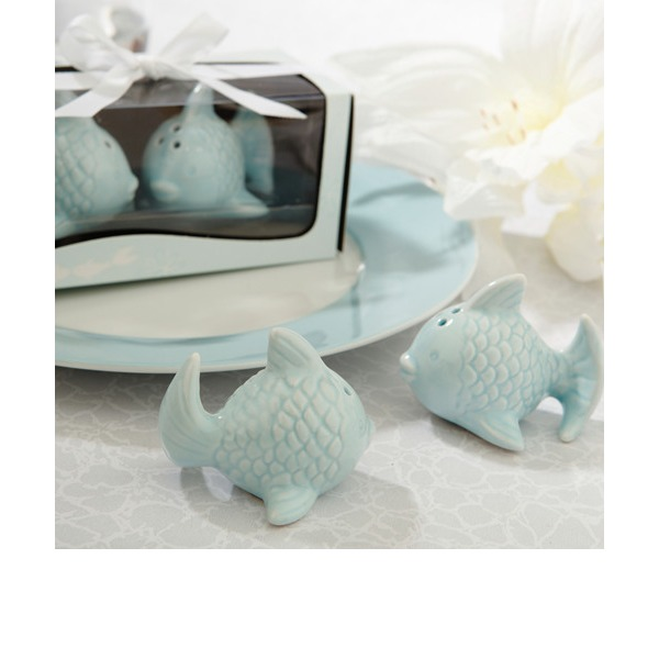 Kissing Fish Salt and Pepper Shakers (Set of 2)