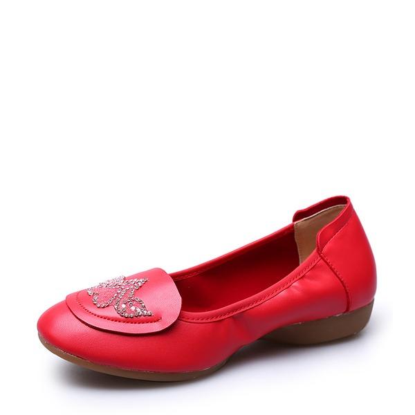 Femmes Vrai cuir Tennis Pratique avec Motif appliqué Chaussures de danse