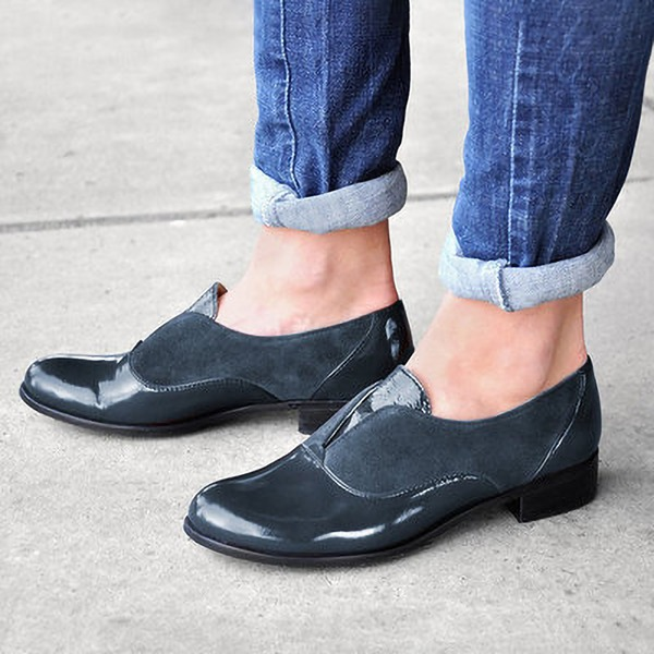 Dla kobiet Skóra ekologiczna PU Obcas Slupek Czólenka Zakryte Palce أحذية