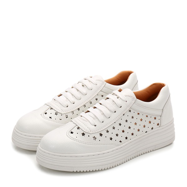 Women's leatherette With Lace-up Sneakers