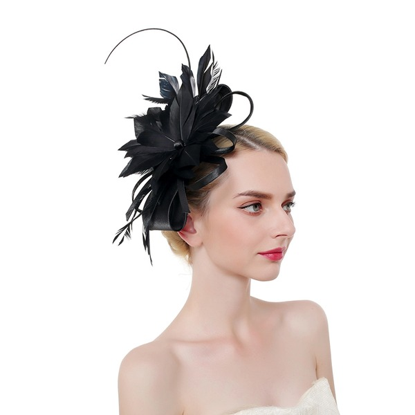 Ladies' Classic/Elegant/Eye-catching Cambric/Feather With Feather Fascinators/Kentucky Derby Hats