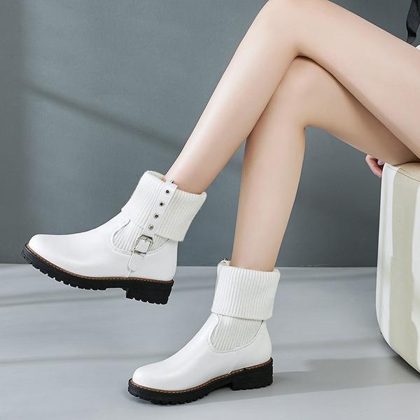Suni deri Alçak Topuk Daireler Pompalar Takozlar Terlik Ile boncuklu kısım Toka Elastic Band ayakkabı