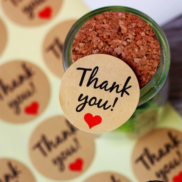 Thank You Stickers DIY Gift Wrapping Materials(Set of 24 pieces)